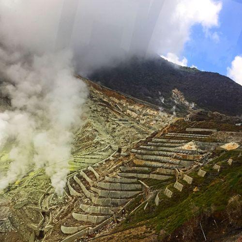 大涌谷 Landscape Cloud - Sky Sky Nature No People Mountain Beauty In Nature Field Outdoors Japan