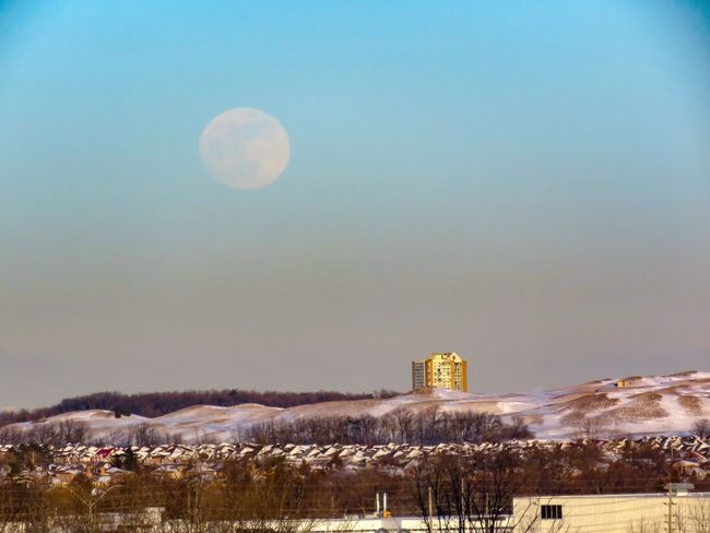 Blue Moon rise Full Moon Full Moon Rising Blue Moon Night Moon History Architecture Beauty In Nature Building Exterior Sky Nature Landscape Outdoors Winter No People Clear Sky Cold Temperature