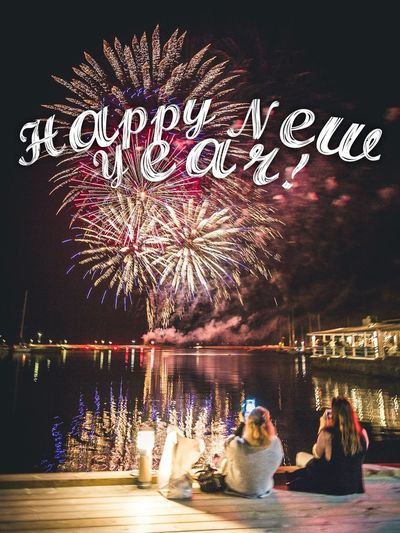 Happy 2017! 🎆   Happy New Year 2017 Celebration Fireworks Firework Display Sweden Women Water Water Reflections Waterfront Öland New Year