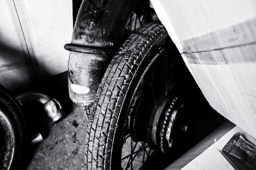 Urban Perspectives The Devil's In The Detail Black & White Motorcycle Street Photography Monochrome Low Section Tire Close-up Land Vehicle Vehicle