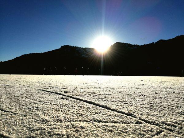 Spitzingsee, zugefroren ❄ Nature Landscape Outdoors Clear Sky Beauty In Nature Sky Heimat Frozen Lake, Bavaria EyeEmNewHere
