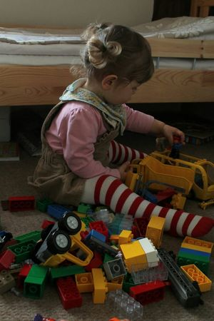 Who said girls only play with dolls...:-) Taking Photos Childhood Children Childsplay Toy Photography Building Blocks