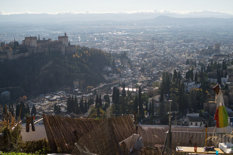 Granada, Spain SPAIN Andalusia Sacromonte Alhambra Albaycin Albaicin Architecture Building Exterior City Built Structure Cityscape Building Crowd High Angle View Nature Residential District Mountain Sky Crowded Day Outdoors Travel Destinations Community Office Building Exterior Skyscraper