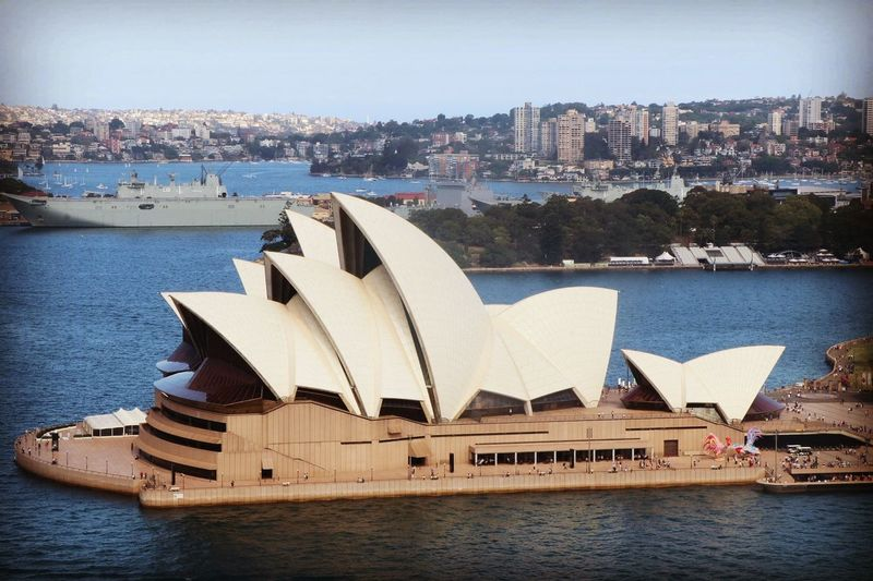 EyeEm Selects Architecture Water City Sea Travel Destinations Building Exterior Built Structure Harbor Arts Culture And Entertainment Day Outdoors Cityscape No People Modern Urban Skyline Sky Sydney Opera House Sydney Australia Tourist Attraction  Landmark Travel Cityscape Scenery Shots