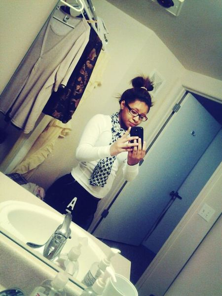 , couple weeks ago . In my grandma bathroom (: