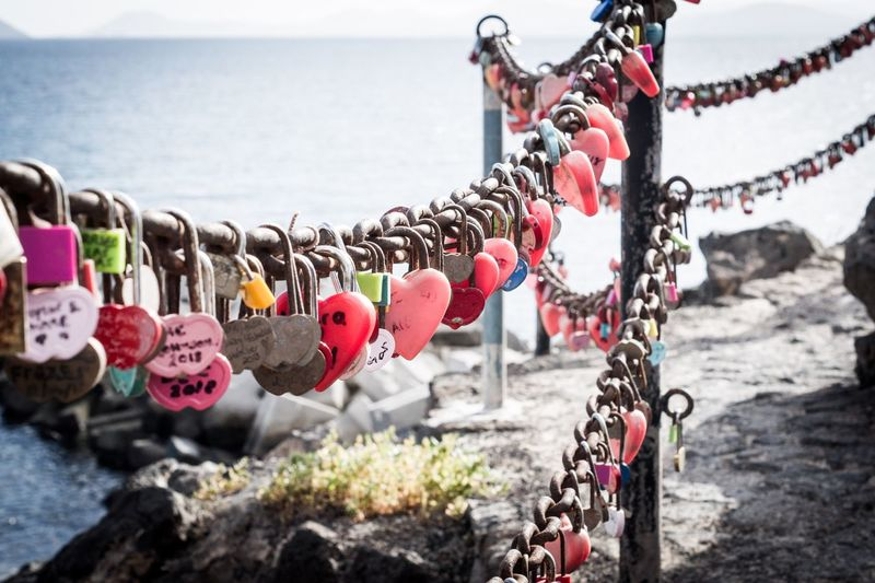 Love to the ocean and beyond Best Pictures Ronny Authentic Arts Padlock Lock Love Lock Hanging Protection Love Day Metal Heart Shape Water Security Hope - Concept Luck Safety Communication Emotion Nature Positive Emotion Text No People