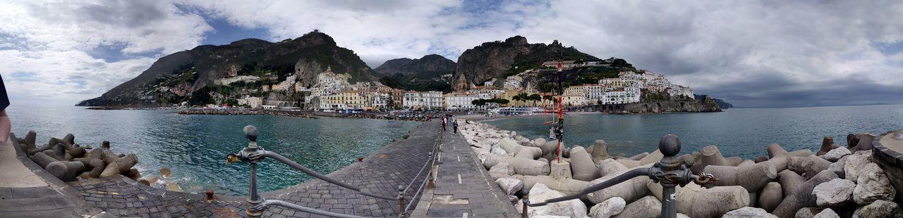 Italy Coastline Amalfi Coast Village Campania Coast Amalfi