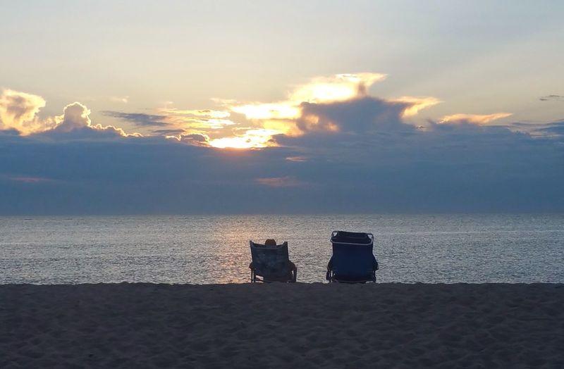 Heavenly Sea Water Sky Beach Cloud - Sky Beauty In Nature Horizon Over Water Sunset Land Scenics - Nature Tranquility Horizon Tranquil Scene Nature Outdoors Sand Idyllic