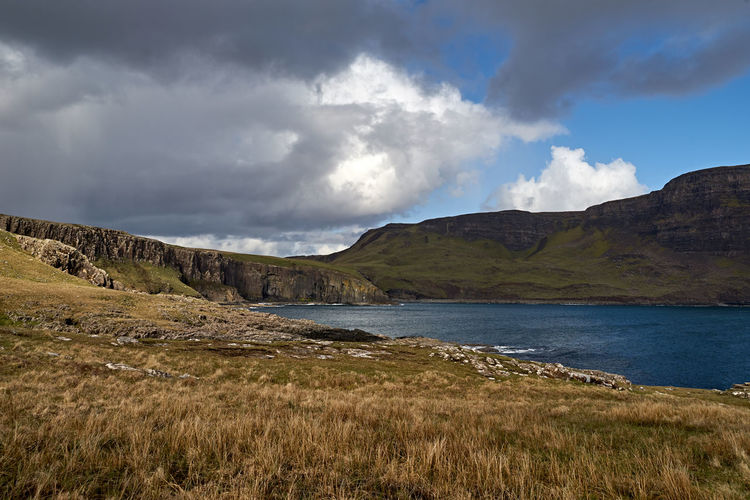 Sky Cloud - Sky Tranquil Scene Beauty In Nature Tranquility Scenics - Nature Water Grass Non-urban Scene Plant Mountain No People Nature Land Day Landscape Environment Lake Idyllic Outdoors Isle Of Skye Skye Scotland Springtime Decadence