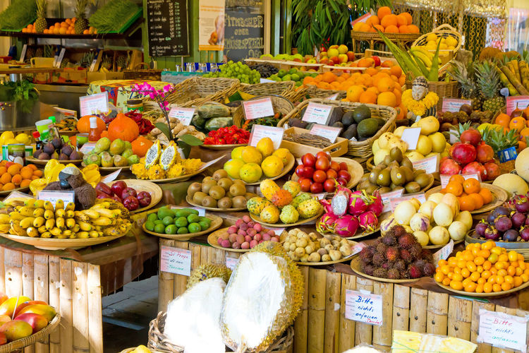 Bavaria Colors Diet Exotic Munich Shopping Travel Tropical Fruits Viktualienmarkt Destination Food Food And Drink Freshness Fruit Germany Healthy Eating Healthy Lifestyle Market Market Stall Outdoors Shop Tropical Variation Vegatables Vegetable