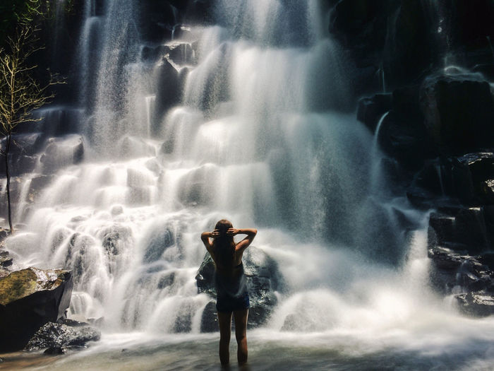 Beauty In Nature Blurred Motion Enjoying The View Idyllic Landscape Leisure Activity Light Long Exposure Motion Nature Nature_collection Outdoors Power In Nature Scenics Sightseeing Silhouette Tourism Tourist Tranquil Scene Tranquility Traveling Wanderlust Water Waterfall Wilderness