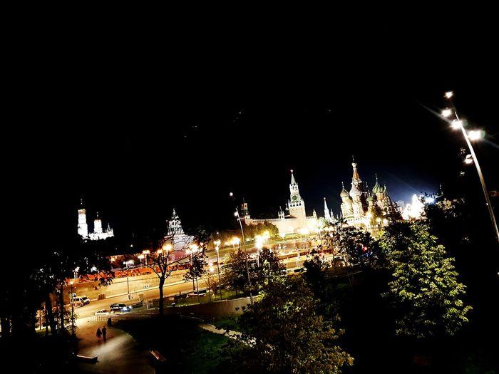 Illuminated City Sky Close-up
