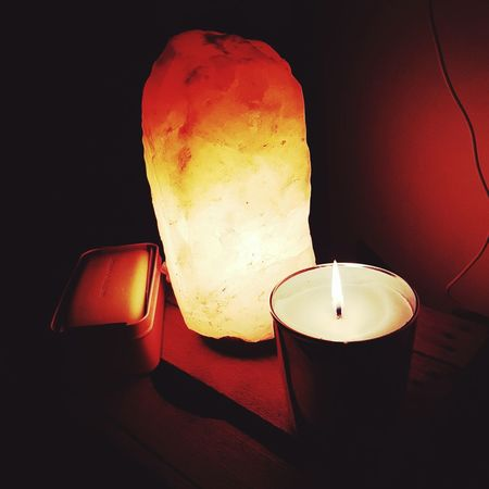Positive life!!!! Flame Illuminated Heat - Temperature Indoors  Relaxing Moments Sleep Time