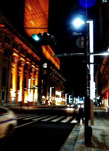 Road Night Lights Bilding