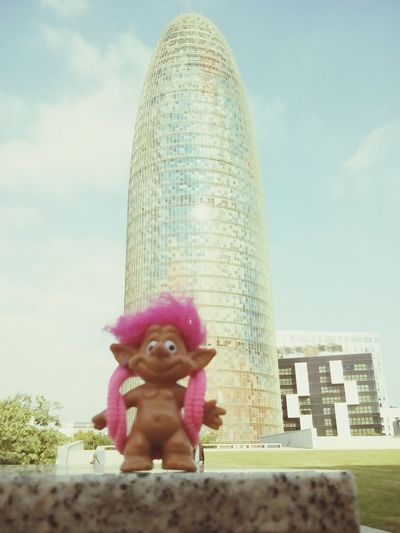 Igor in the Torre Agbar. /// Igor en la Torre Agbar. Barcelona, Spain Agbar Tower Troll Cute