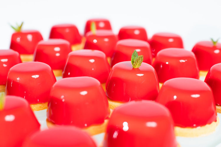 Close-up of red candies