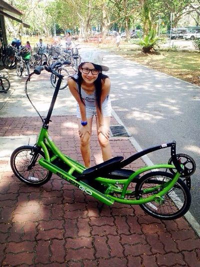 Most awesome two-wheeler ever! Combination of running and cycling for low impact, high intensity cardiovascular workout. Elliptical Bicycle Singapore Pasir Ris Park