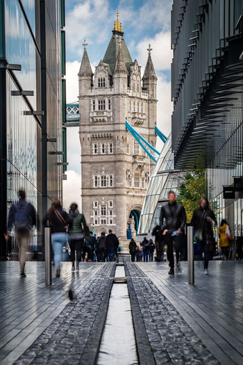 Long compression London London Streets Long Exposure Longlens Iconic London United Kingdom Europe Towerbridge Tower Bridge  Tower Leading Lines Copy Space Accidental People Unrecognizable People EyeEm Best Shots EyeEm Selects Check This Out FollowMeOnInstagram City Politics And Government Police Force Police Station Clock Tower Sky Architecture Building Exterior Politics Government Building Office Building