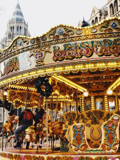 Winter Christmas London Belief Architecture Built Structure Religion Place Of Worship Art And Craft Spirituality Building Exterior Gold Colored Building Creativity Low Angle View Multi Colored Carousel Ornate Outdoors Day