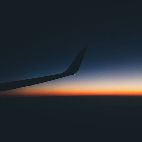 Airplane Sunset Travel Flying Nature Sky