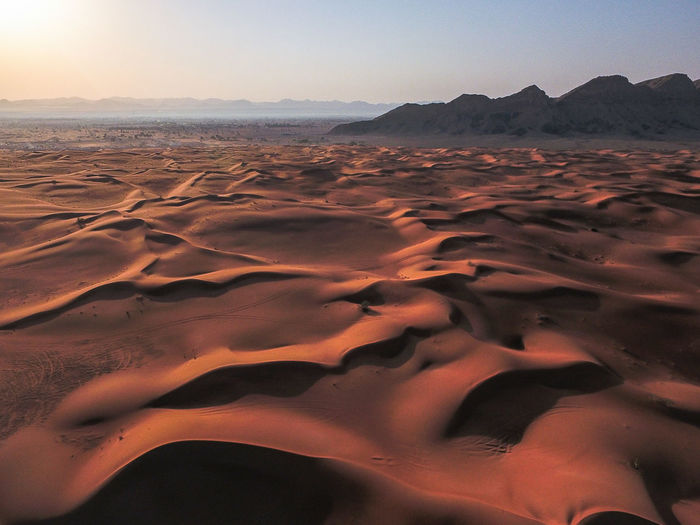 Maliha Desert Desert Sand Aerial Sand Dune Beauty In Nature Sky Day Drone  First Eyeem Photo