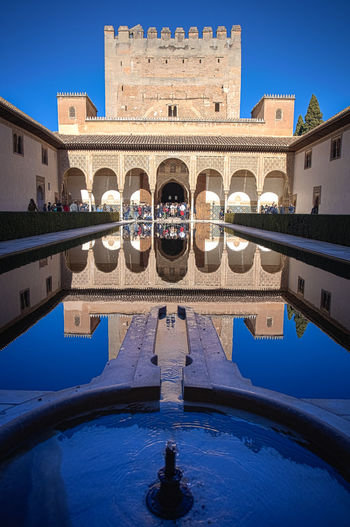 Reflection in pond at alhambra