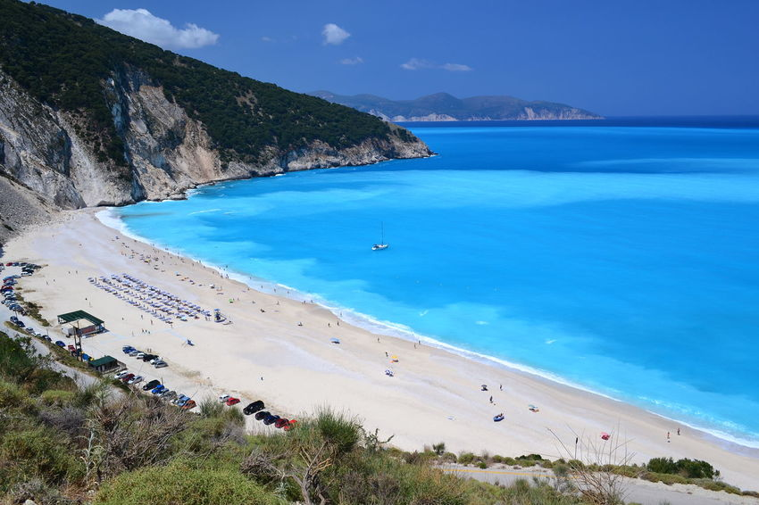 Myrtos Beach, Kefalonia Kefalonia Kefalonia, Greece Beach Beach Photography Myrtos Beach Cephalonia Water Sea Nature Blue High Angle View Land Scenics - Nature Beauty In Nature Plant Mountain Sand Tranquil Scene Incidental People Tranquility Holiday Turquoise Colored