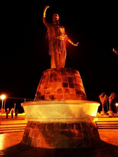 Night at public area.. Street Photography Hanging Out Toraja at Makassar-Indonesia