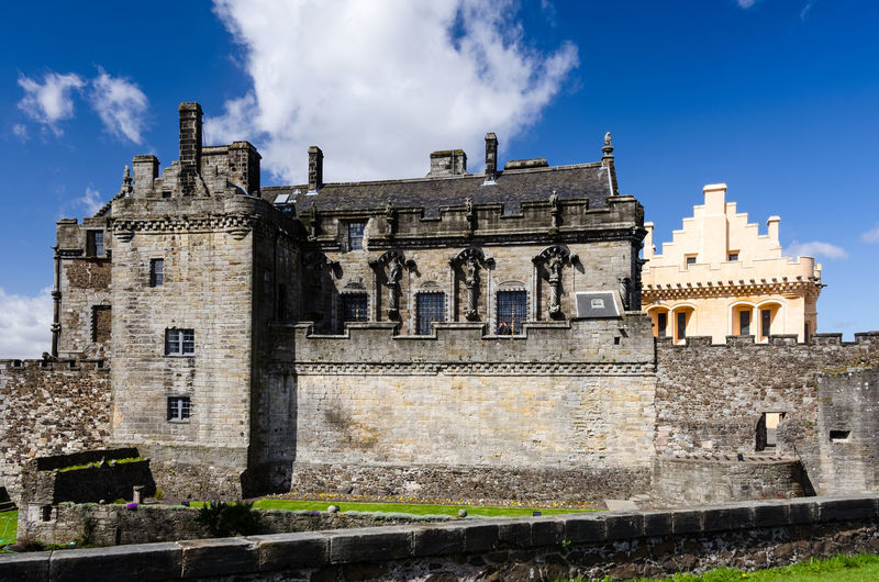 Royal Palace with the Great Hall in the background at Stirling Castle Architecture Building Exterior Built Structure Cloud - Sky Day Façade Fortress Historic Building History Medieval Old Outdoors Royal Palace Scotland Stirling Castle Stone Wall TakeoverContrast Wall Window Neighborhood Map
