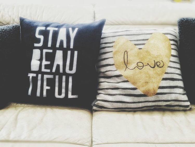 Stay Beautiful Love Pillow Cushion Home Decor Home Interior Home Sweet Home Family Black & White