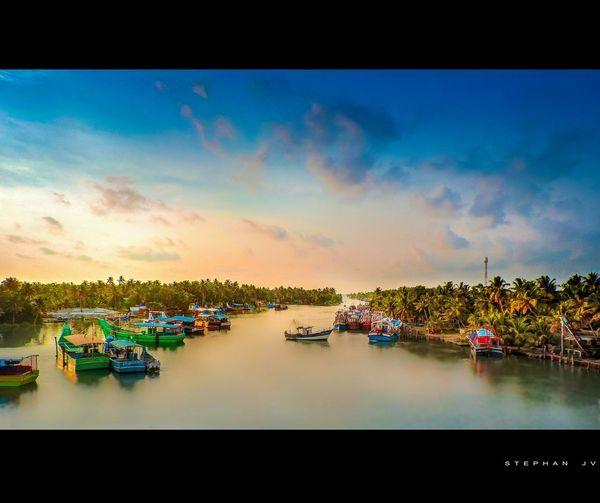 Riverside River View Kerala Alappuzha Landscape Scenery Sunset Photography Landscape_photography Harbour View