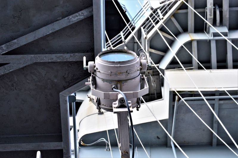 Battleship Spotlight Nautical Equipment Navy Ship Search Light US Navy USS Wisconsin BB-64 United States Navy Battleship Day Military Nautical Nautical Vessel Navy No People Ship Ship Equipment Ship Spotlight Spotlight Us Military