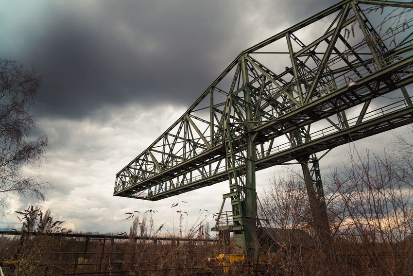 Landschaftspark Nord Architecture Bare Tree Bridge Bridge - Man Made Structure Built Structure Cloud - Sky Connection Day Industry Low Angle View Metal Nature No People Outdoors Overcast Plant Sky Transportation Tree