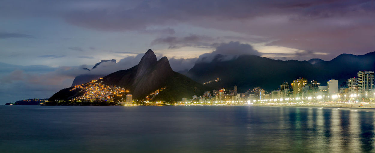 Sunset in Ipanema Blue Hour Clouds And Sky Coastline Coastline Landscape Long Exposure Outdoors Reflection Sea And Sky Sunset Tranquil Scene