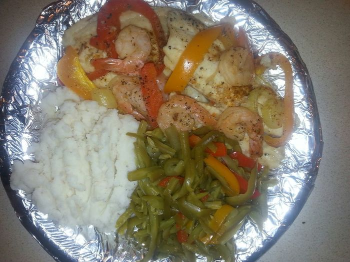 My Son Said He Wants Fish, Shrimp And Green Beans For Dinner. :-) ☆ ☆