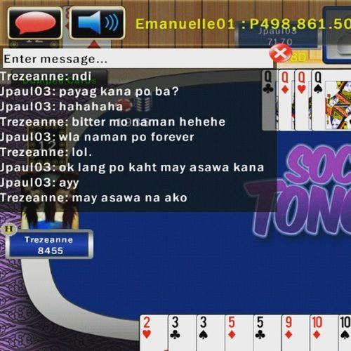While playing. Haha 😂😁😝🙅💰♠♥♣♦ Cards Courtship IGDaily Tongits Tongitspamore VSCO