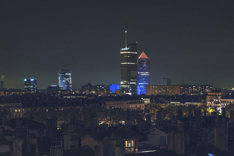 Lyon skyline by