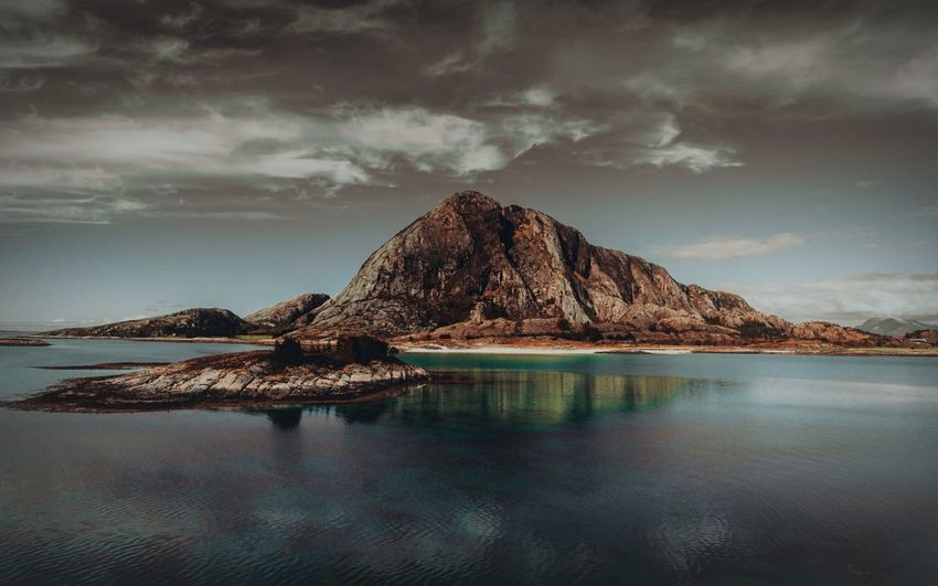 - - Bolga EyeEm Best Shots Loneliness Norway Tranquility Beauty In Nature Cloud - Sky Idyllic Land Mountain Nature Nature_collection No People Non-urban Scene Reflection Rock Rock - Object Rock Formation Scenics - Nature Sea Sky Tranquil Scene Tranquility Water Waterfront The Great Outdoors - 2018 EyeEm Awards