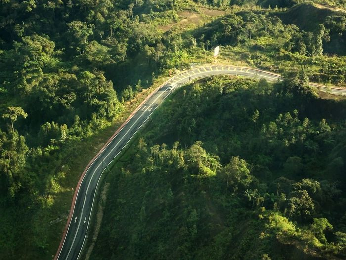 Transportation High Angle View Tree Aerial View Road Car Traffic Highway Speed Outdoors Forest Green Color No People Scenics Nature Day Beauty In Nature Winding Road Traveling Malaysia Genting Highlands