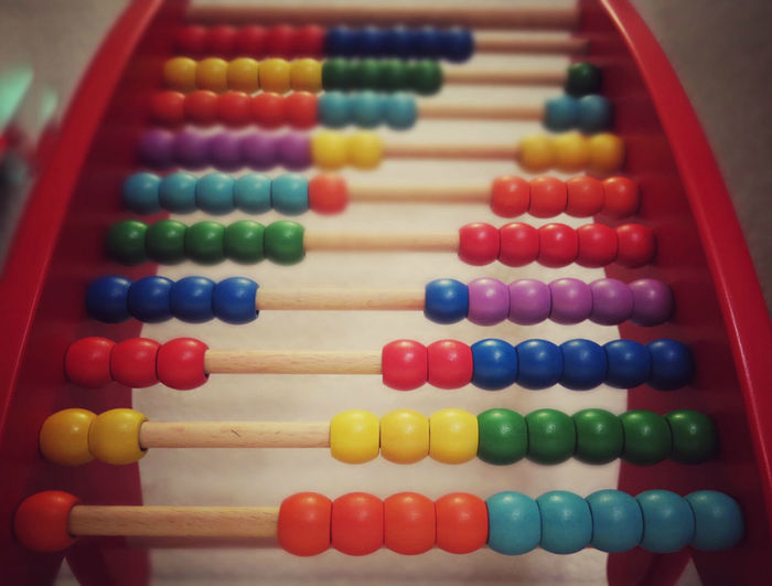 Close-Up Of Colorful Abacus