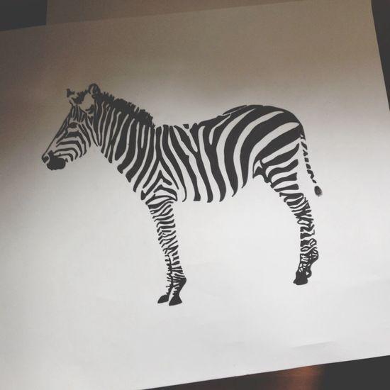 Zebra Painting Animals Black And White