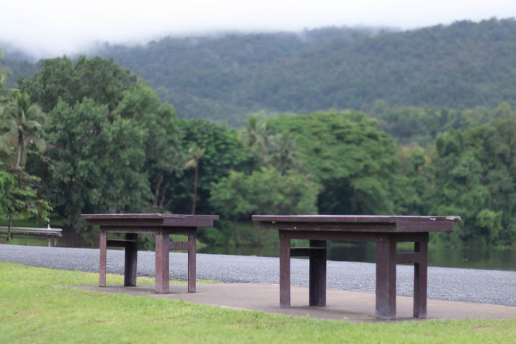 Chair Couple Day Horizontal Nature No People Outdoors Tree Water