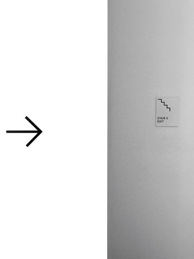 Minimal signal. Minimal Minimalist Minimalism Arrow Sign Signal Stair Stairs White Plain Light Blank Wall Simple Simple Photography Simplicity Wall Art No People Display Colorless Museum Frame Minimalist Architecture Perspectives On Nature