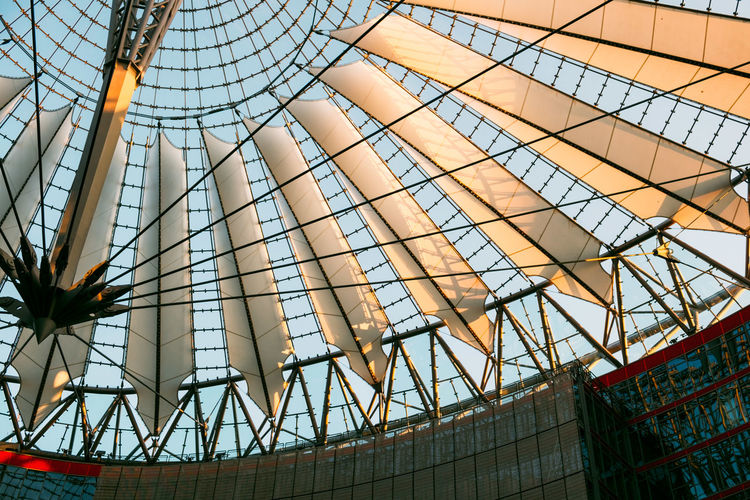 Sony Center Sony Center Berlin Alloy Architecture Arts Culture And Entertainment Building Building Exterior Built Structure Ceiling City Day Glass - Material Industry Low Angle View Metal Modern Nature No People Office Office Building Exterior Outdoors Pattern Potsdamer Platz Sky Skyscraper Steel