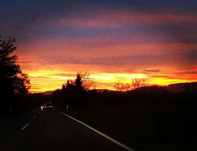 Morning sky Sunrise Beautiful Sky❤ Beauty In Nature First Eyeem Photo