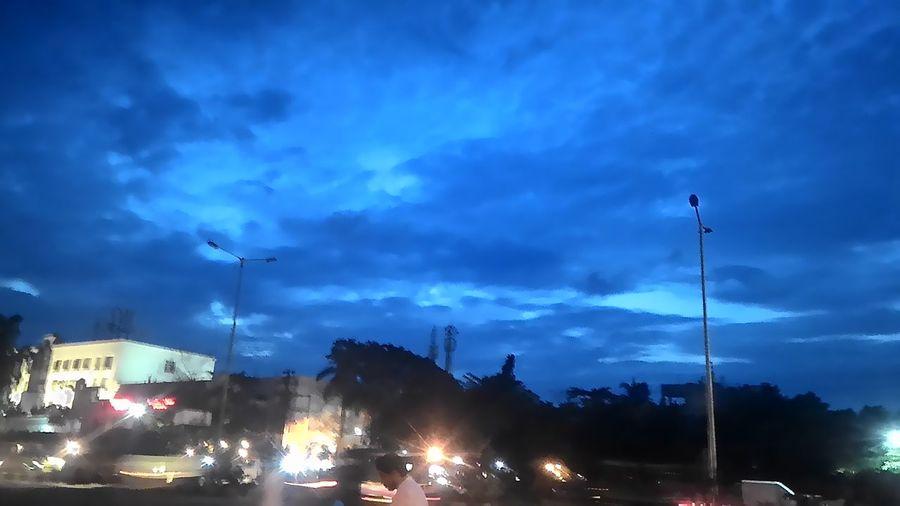 Dusk Blue Cloud - Sky Outdoors Scenics Road Illuminated City Life