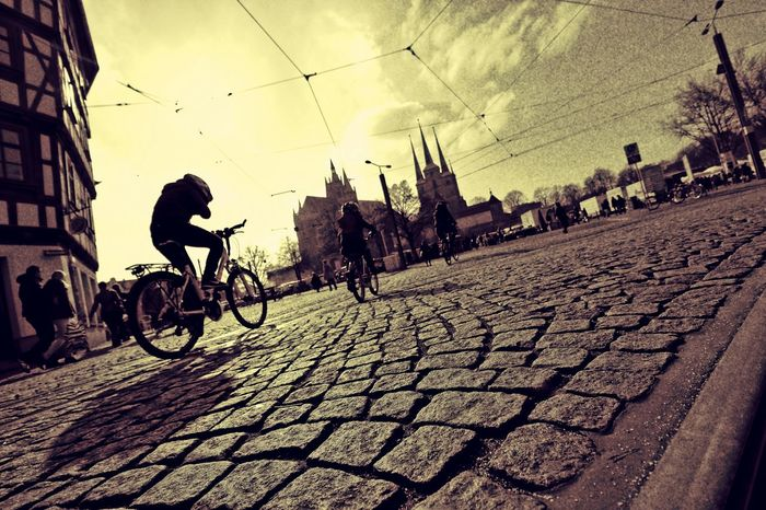 Domplatz / Erfurt Bikes People Freedom Hopes And Dreams Germany HDR Photography