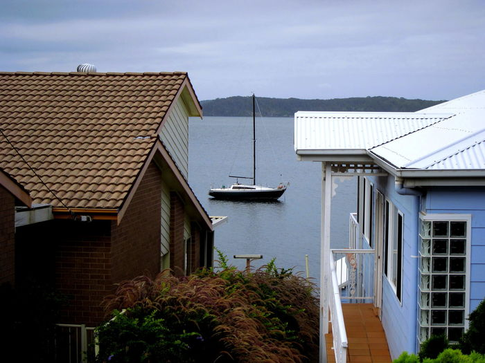 Architecture Australia Boat Building Exterior Built Structure Cloud - Sky Day House Houses Lake Lake Macquarie New South Wales  No People Outdoors Roof Sky Sunshine ☀ Water