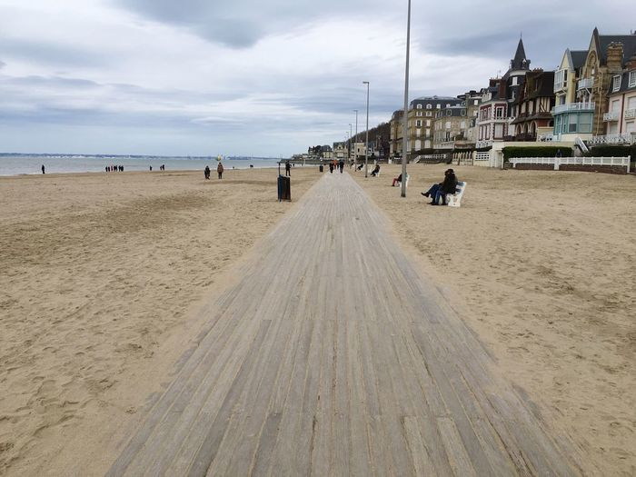 Castle Walk Bench Land Beach Sea Sand Water Sky Cloud - Sky Day Built Structure Architecture Building Exterior Real People Holiday City Beauty In Nature Scenics - Nature Outdoors Vacations