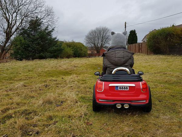 Kid Childhood Outdoors Grass Field Car Toy Boy Cloud - Sky Outdoors Day Tree Sky